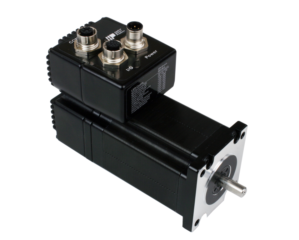 Integrated stepper motors for Integrated servo motor and drive
