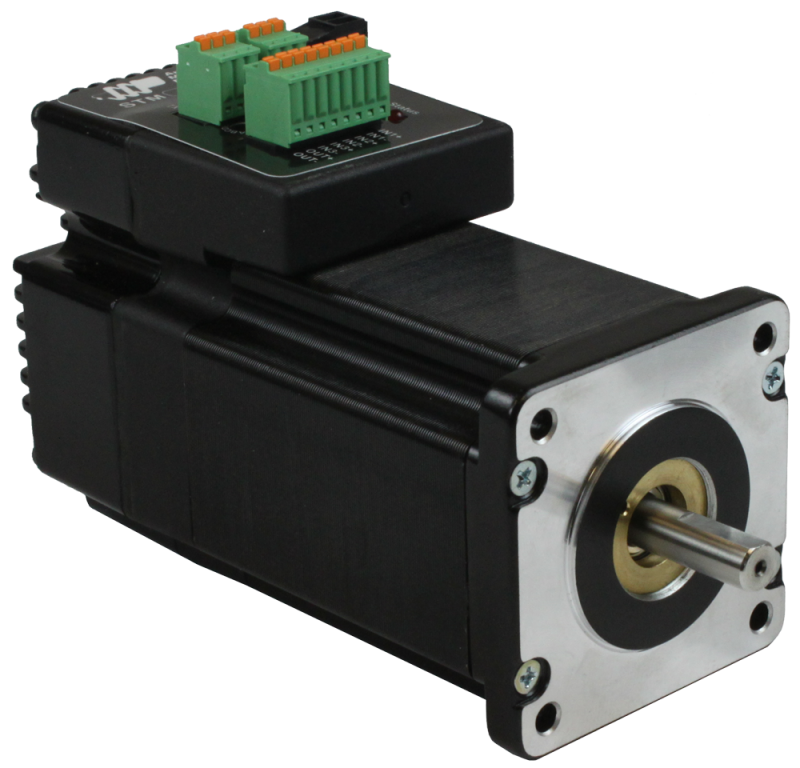 Integrated stepper motor for Integrated servo motor and drive